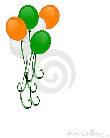St Patrick s day balloons isolated