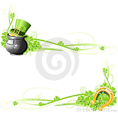 Free St. Patrick S Day Banners Royalty Free Stock Photography - 18365487