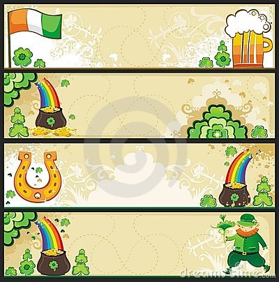 St. Patrick s Day banners