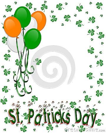 St Patrick s day Border Balloons