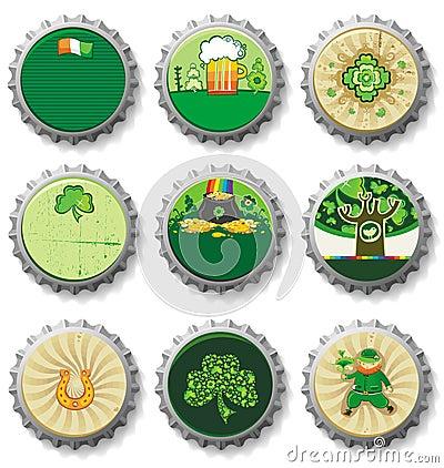 St. Patrick s Day bottle caps