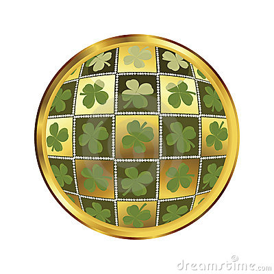 St. Patrick s day button