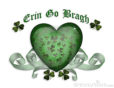 St Patrick s day card Erin go bragh