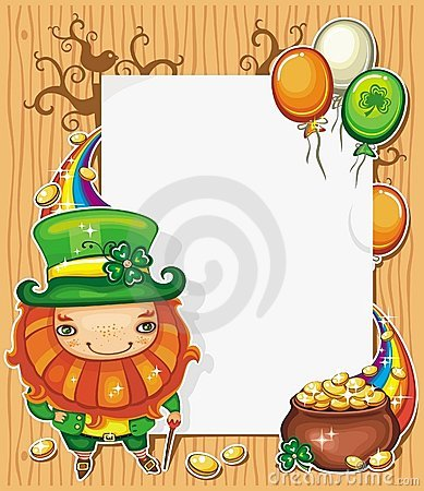 St Patrick s Day cartoon frame