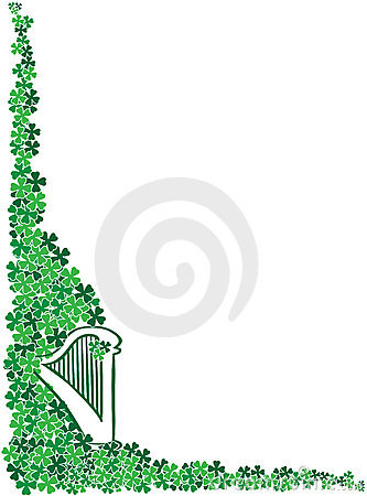 St. Patrick s Day Celtic Harp corner frame