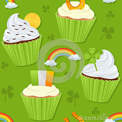 St. Patrick s Day Cupcakes Seamless