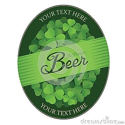 St. Patrick s Day custom beer label