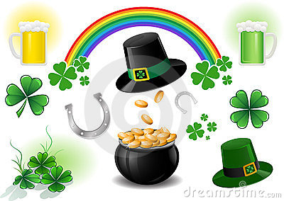 St. Patricks Day design elements