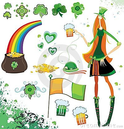 Free St. Patrick S Day Design Elements Royalty Free Stock Photos - 4285738