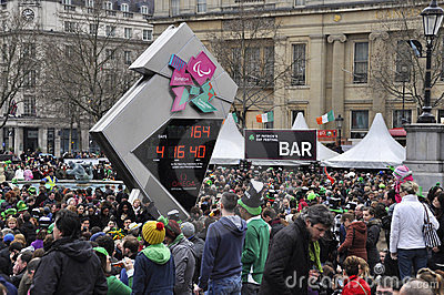St Patrick s Day Festival in London Editorial Stock Photo