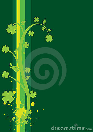 St. Patrick s Day Floral Background - vertical