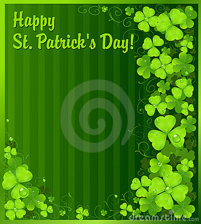 St. Patrick s Day green clover background