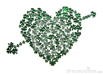 St Patrick s Day Heart with arrow