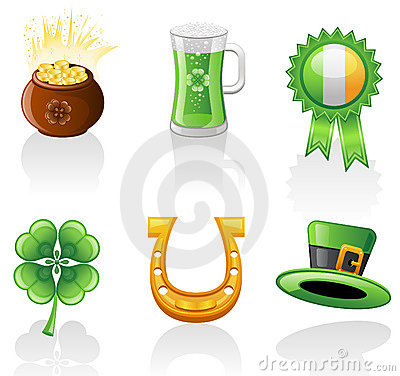 St. Patrick s Day icon set