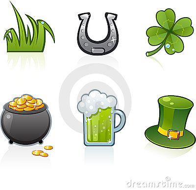 Free St Patrick S Day Icons Royalty Free Stock Photos - 4105148