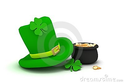 St. Patrick s Day leprechaun hat with four-leaf cl