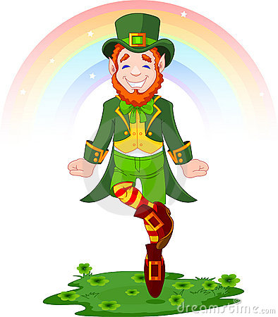 Free St. Patrick S Day Lucky Dancing Leprechaun Royalty Free Stock Photo - 18420695