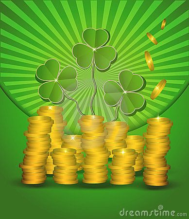 St. Patrick s Day Money coin green