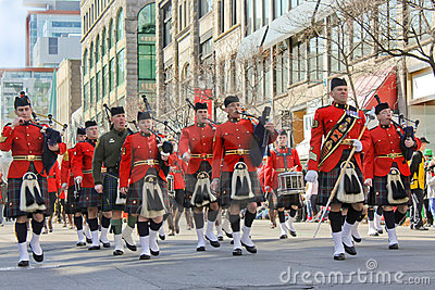 St.Patrick s day in Montreal. Editorial Photography