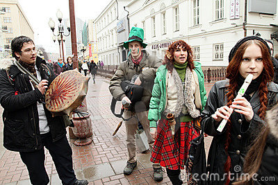 St. Patrick s Day in Moscow Editorial Photo