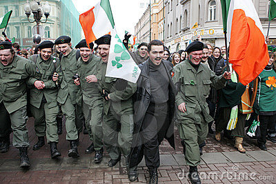 St. Patrick s Day in Moscow Editorial Stock Photo