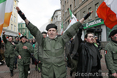 St. Patrick s Day in Moscow Editorial Image