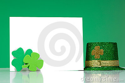 St. Patrick s Day Note blank notecard