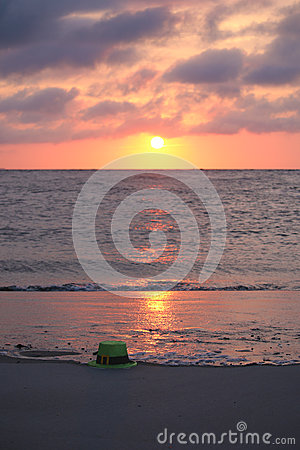Free St. Patrick S Day On The Beach Royalty Free Stock Photos - 73005378