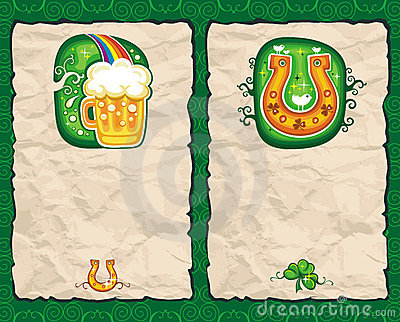St. Patrick's Day paper backgrounds series 2