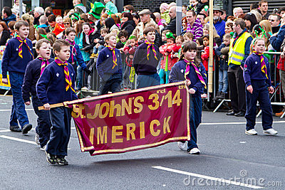 St. Patrick s Day parade in Limerick Editorial Photography