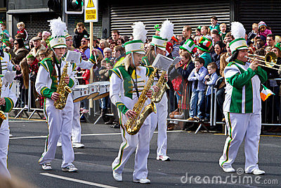 St. Patrick s Day parade in Limerick Editorial Image