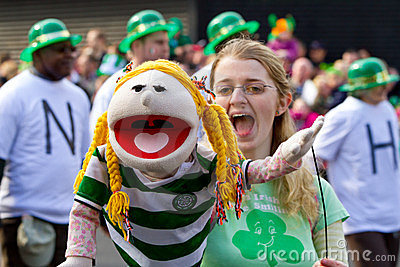 St. Patrick s Day parade in Limerick Editorial Stock Image