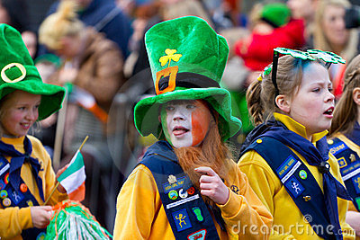St. Patrick s Day parade in Limerick Editorial Photo