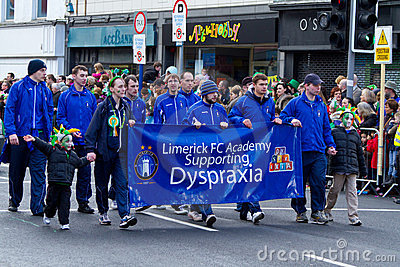St. Patrick s Day parade in Limerick Editorial Stock Photo