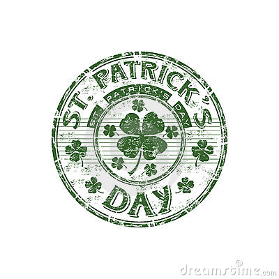 St. Patrick s Day rubber stamp