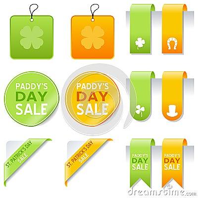 St. Patrick s Day Sale Elements Set