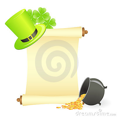 St. patrick s day scroll