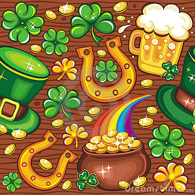 Free St. Patrick S Day Seamless Background Stock Photos - 13056293