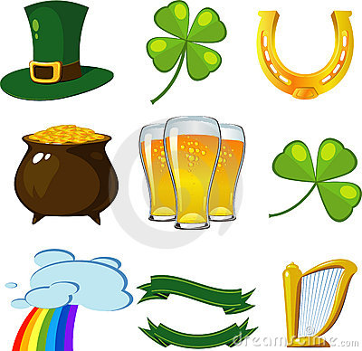 Free St. Patrick S Day Set Royalty Free Stock Photo - 13111235