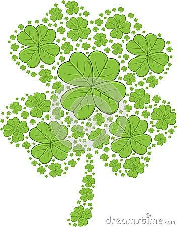 St. Patrick s Day Shamrocks - vector illustration