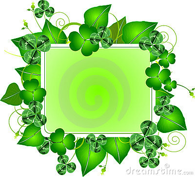 Free St. Patrick S Day Three Leafed Clover Frame Stock Image - 18650561