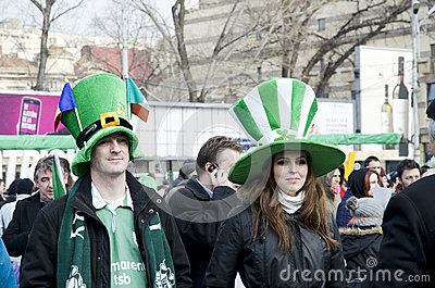 Saint Patrick s Day in Bucharest Editorial Stock Photo