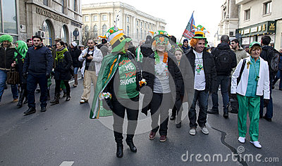 Saint Patrick s Day in Bucharest 7 Editorial Stock Photo