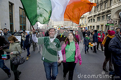 Saint Patrick s Day in Bucharest 8 Editorial Image