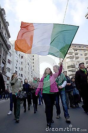 Saint Patrick s Day in Bucharest 9 Editorial Photo