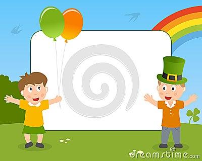 St. Patrick s het Frame van de Foto van Jonge geitjes