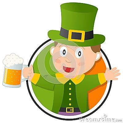 St. Patrick s Leprechaun logo