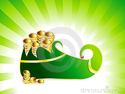 St patrick s  leprechaun shoes with coin