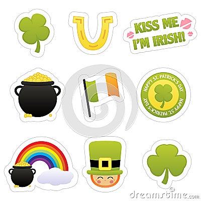 St. Patrick s Sticker Icons
