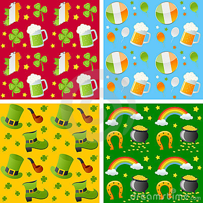 St. Patrick Seamless Patterns